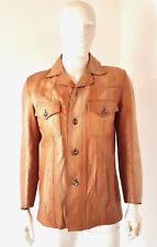 Vintage 1970s 70s Mens Glenhusky Scotland Distressed Ten Leather Jacket Mod 42