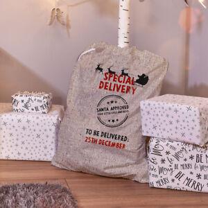 Special Delivery Design Christmas Children Santa Sack