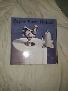 New Wooden Country Rooster Paper Towel holder Housewares and Decor.