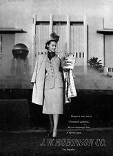 Santa Anita Race Track J W ROBINSON DEPARTMENT STORE Mangone Suit 1947 Print Ad