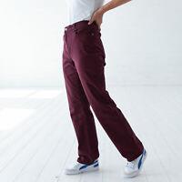 Levi's 505 Gerade Red Maroon Mid rise Skinny Rot  Damen Jeans DE 40 / US W32 L32