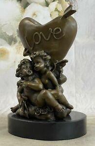 Home Bronze Children Candle Holder bronze Angels Statue Candleholder for Sale