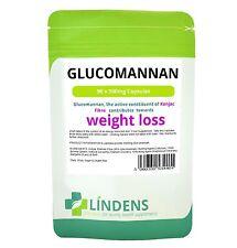 Lindens Glucomannan Konjac Fibre 90 Capsules Pills 500mg Weight Cholesterol