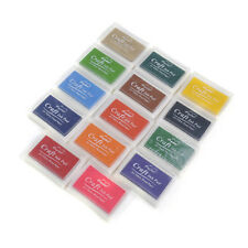 14 Colours Craft Ink Pad For Rubber Stamps Pads DIY Printing Wood Fabric Paper