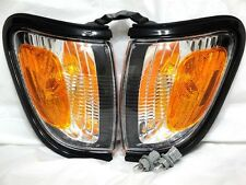 Front Black Trim Turn Signal Parking Light Lamps w/Bulbs A Pair Fit 2004 Tacoma