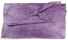 Sac à main de cérémonie Les 3 CHAPEAUX pochette femme violet mauve uni mariage