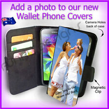 For Samsung S5, Personalised PHOTO Wallet Card Flip case PICTURE cover Image