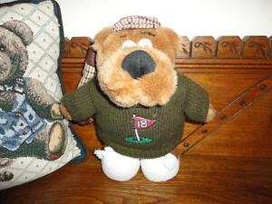 Russ Berrie SID Talking Golfer Golfing Bear