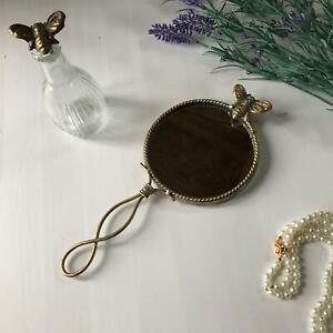 Beautiful Bee Handheld Mirror Gold Luxe Makeup Vanity Mirror Vintage Chic Gift