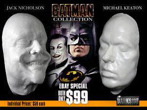 BATMAN COLLECTION MICHAEL KEATON & JACK NICHOLSON Life Casts Lightweight Resin