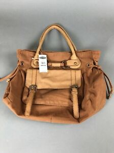 Old Navy Shoulder Purse NWT Brown Fabric 15 x 12