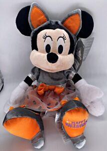 Disney Parks Minnie Mouse Happy Halloween Cat 2021 Plush - NEW
