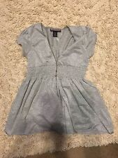 L.A. Kitty Large Young Girl's Gray Sparkly Dress