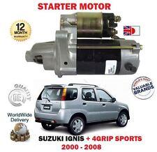 Per SUZUKI IGNIS + 4 presa SPORT 1.3 1.5 2000-2008 NUOVO Motore Di Avviamento