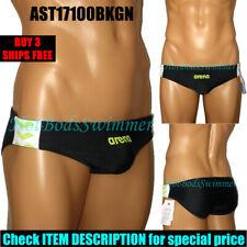 Arena AST17100BKGN Men's Low-Rise Competition Swimwear Speedo-Style Swim Brief