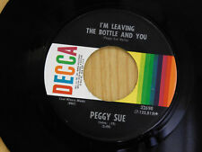 Peggy Sue 45 All American Husband bw Im Leaving The Bottle And You   Decca VG++