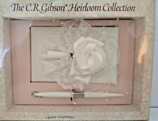 White Floral Fantasy Wedding Guest  Pen Set by CR Gibson Co.