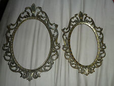 Vintage Victorian Wall Frames - Steampunk - Art - Gold Color - Italy - Pair (2)
