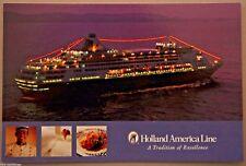 POST CARD HOLLAND AMERICA VEENDAM CRUISE SHIP MAIL POSTAL 2005 HAL 30702226 NM