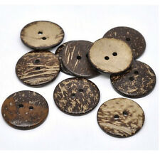 50 Pcs 25mm 2 Holes Coconut Shell Buttons , for Sewing, Scrapbooking Crafts