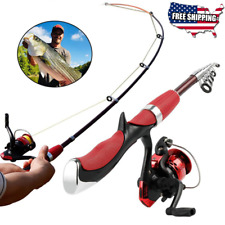 🎣Fishing Rod and Reel Combos 🐟 Carbon Ultra Light Easily Portable Fishing Reel
