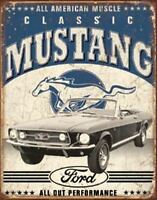 Classic Mustang Vintage Retro Tin Metal Sign 13 x 16in