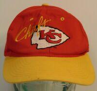 Vintage 1990s KANSAS CITY CHIEFS NFL Football Arrowhead Spell Out Snapback Hat