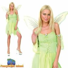 TINKERBELL WOODLAND GREEN FAIRY - Size 10-12 - womens ladies fancy dress costume