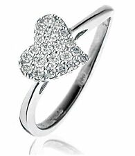 Heart Not Enhanced SI1 Fine Diamond Rings