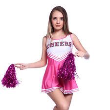 Mini Vestido Cheerleader Animadora Animando sin Mangas con Letras Color Rosa