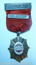 Original 1924 International Ladies Garment Workers Union Delegate Pin enamel