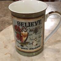 Kent Pottery Porcelain Tea Cup Mug Lancaster Mug Believe 8 Oz.