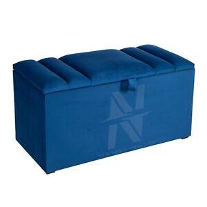 Luxury Ottoman Box Storage Box Home Footstool Plush Velvet Storage Unit Toys