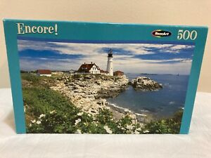 """Roseart Puzzle 500 Pieces 10.75""""x18"""" Sealed White Roses at Portland Maine"""