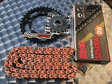 RK 525GXW Kit de cadena KTM 990 SUPERDUKE, R, 17-38-110, naranja, kettenkit, LC8