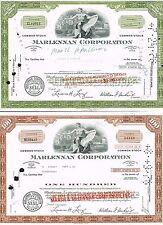 USA marlennan Corporation Aktienzertifikate Set 2