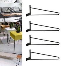 """Heavy Duty Hairpin metal Table legs 3/8"""" Dia. legs 4 legs in one set 16 Inch"""
