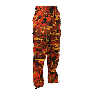 Rothco 8865 Savage Orange Camo BDU Pants