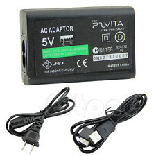 New AC Power Adapter USB Data Cable Supply Convert Charger For Sony PS Vita PSV