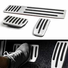 3x Non-Slip Aluminum Accelerator Brake Foot Rest Pedal Pad Fits Tesla Model S&X,