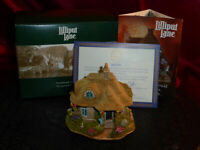 LILLIPUT LANE Birthday Cottage L2328 British Suffolk Thatched Cottage Box+deeds