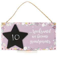 Wall Plaque/Hanging Sign ~ Countdown ~ WEEKS UNTIL WE BECOME GRANDPARENTS