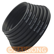 77mm-72mm-67mm-62mm-58mm-55mm-52mm-49mm Step Down Rings