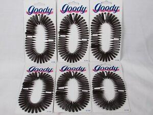 Lot of 6 Goody V7 Flexible Comb 01996 Headband Ponytail Chignon Hair Clip Tie