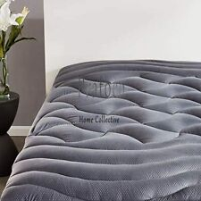 Premium Size King Mattress Topper Cooling Pad Cover Memory Foam Overfilled Grey