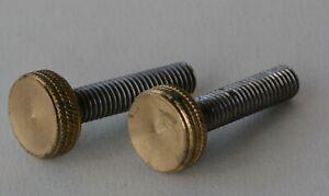 "Lever cap screw Norris type plane Tension Brass Steel 50 mm long 3/8"" Whitworth"