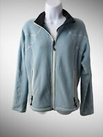 REI Women's Size Medium Blue Full Zip Up Pockets Warm Winter Fleece Fuzzy Jacket