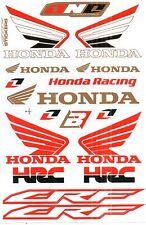 1 SHEET NEW HONDA HRC CAR MOTOCROSS ATV ENDURO BIKE RACING DECAL STICKER SK50