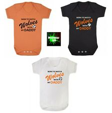 Wolves football Club Baby grow Vest Boy Girl Clothes Present shower gift