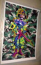 Ron English CAMO TRAMP BOY AP Print Poster Grin Flower Teeth MC Supersize